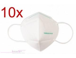 1a Mundschutz Hygiene Maske mit Ohrschlaufen 10er Pack